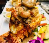 Lobster Tail with Blue Crab and Shrimp