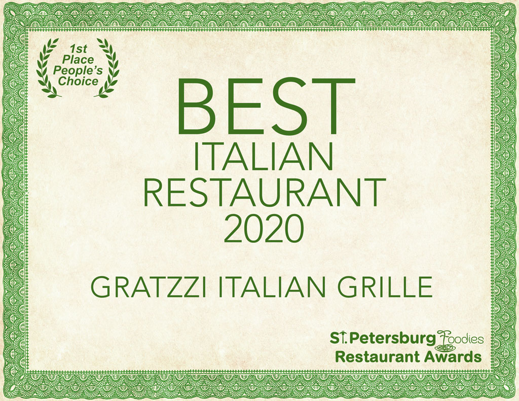 Best Italian Restaurant 2020 - St. Petersburg Foodies Restaurant Awards